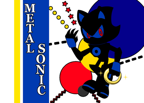 - STH Silhouette_Metal Sonic- by Biko97