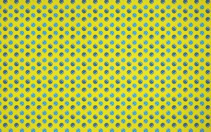 Blue And Yellow Funny Bugs Pattern Wallpaper by azzza