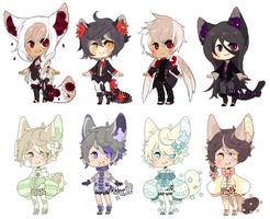 Gobbler and Flower Baby Adopts - Amouu [OPEN] by Kunamei
