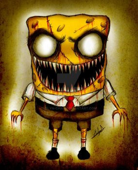 Zombie Spongebob by Eilyn-Chan