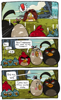 Angry Birds Toons : Chuck as Mona Litha by MemQ4