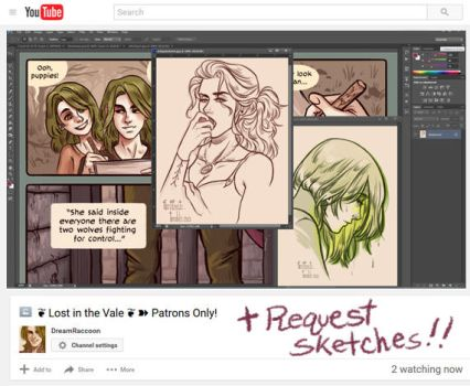 { Patreon Only QandA/Request Stream : TONIGHT } by CrystalCurtisArt