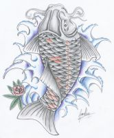 black koi fish by JOVictory