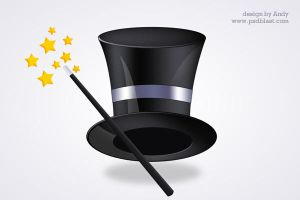 Magic Hat PSD by psdblast
