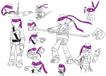 Donnie sketch dump by ZoeShiranui