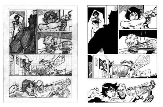 Nathan Never's proof pages - 02 - Layout 'n' Inks by AleMonaco