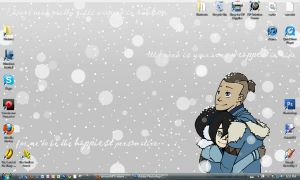 My winter desktop by daughterofthestars