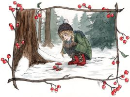 Early Snow By Katnips-d6w6m0v by childrensillustrator