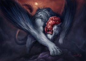 Masked Manticore by JaviRGRAPHICS