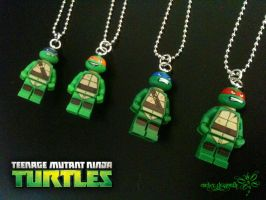 Lego TMNT Necklace by RockerDragonfly