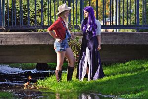 MLP - AppleJack and Rarity by aggestardust