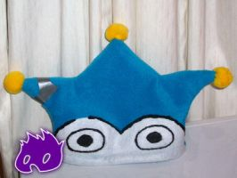 Blue Badger hat by BeckiebooTwo
