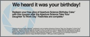 Aperture Happy Birthday Coupon by Triplesixx