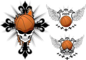 Baskeball Skull Design by artamp