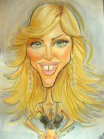 Madonna Caricature by Fyra