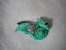 Green Pastel Mini Dragon by cockfighter