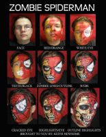 Zombie Spiderman Step by Step by dragonhuntr