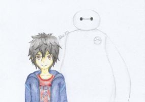 Hiro and Baymax by AlinaV26