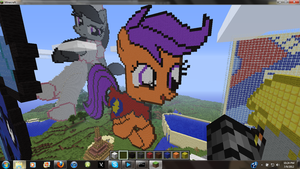 MLP Scootaloo Minecraft Art by hermp