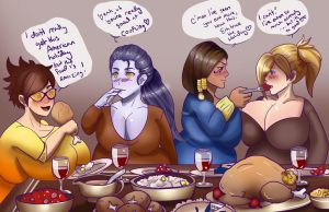 Overwatch Thanksgiving by Blueberry-shortcake