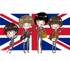 The Beatles chibi by daisymcqueen