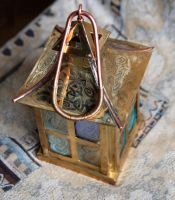 Celtic candle lamp up view by dublduch