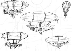 AIRSHIPS! by InvisibleSketcher