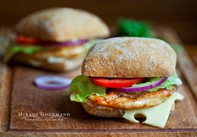 Chicken sandwich by MirageGourmand