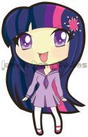Twilight Sparkle Gijinka : Colored by lemon-tan