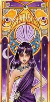 Sailor Saturn Mucha style by Carcondis