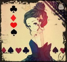 Queen of the Cards by 0Mari-chan0