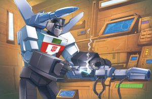 Wheeljack in his lab by Dan-the-artguy