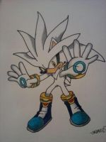 Silver the Hedgehog by android17lover