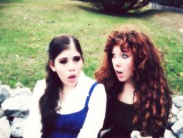 Belle and Merida Surprised by Secoramoondragon
