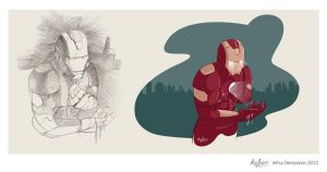 Ironman sketch by snikers15