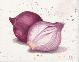 red onions by Annezon