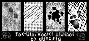 Textures and vector brush set by dunpinta