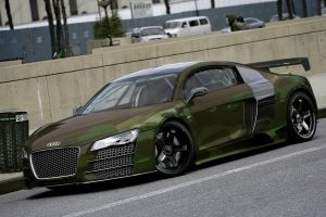 Audi R8 With Camo print by degraafm