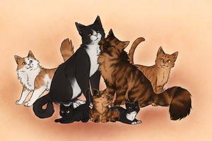 The Happiest Kitty Family by AnnMY