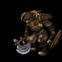 Goblin Warrior Attacks by GninjaGnome