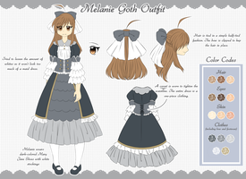 OC Ref: Melanie's Goth Outfit by Kyoukouo