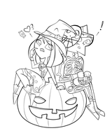 Halloween-Lineart by CIT-Courtney