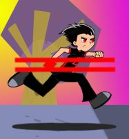 Evil Danny Running by JohnRose