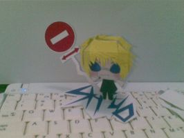shizuo papercraft by Grim-paper