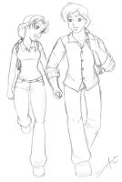 College Sweethearts   Sketch by Jupta