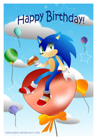 Happy 21st Birthday Sonic by EllyTheGee