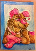 Iron Artist Challenge ACEO 15 by nightspiritwing