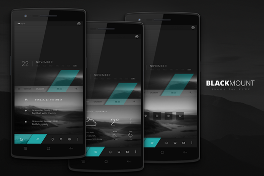 Blackmount theme for Android by marcco23