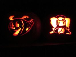 Madoka Pumpkins by stickyghost