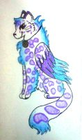 Cold Fire Snow Leopard (gift) by misty-paws